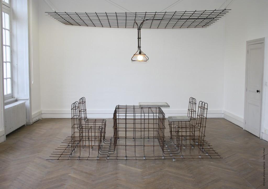 No Stop Furniture / juin 2014 / Crédit photo : Kévin Potier / Fabrication : Sophie Vaugarny en collaboration avec Yannick Iran, métallier, Angers (49)